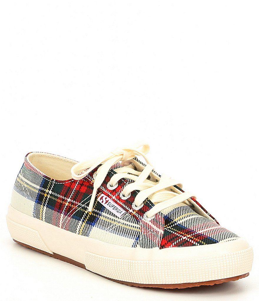 Superga tartan-plaid-sneakers