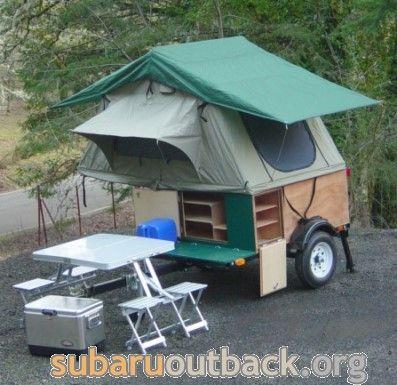 Explorer Box  Tent Topped C&ing Trailer - Subaru Outback . & Explorer Box