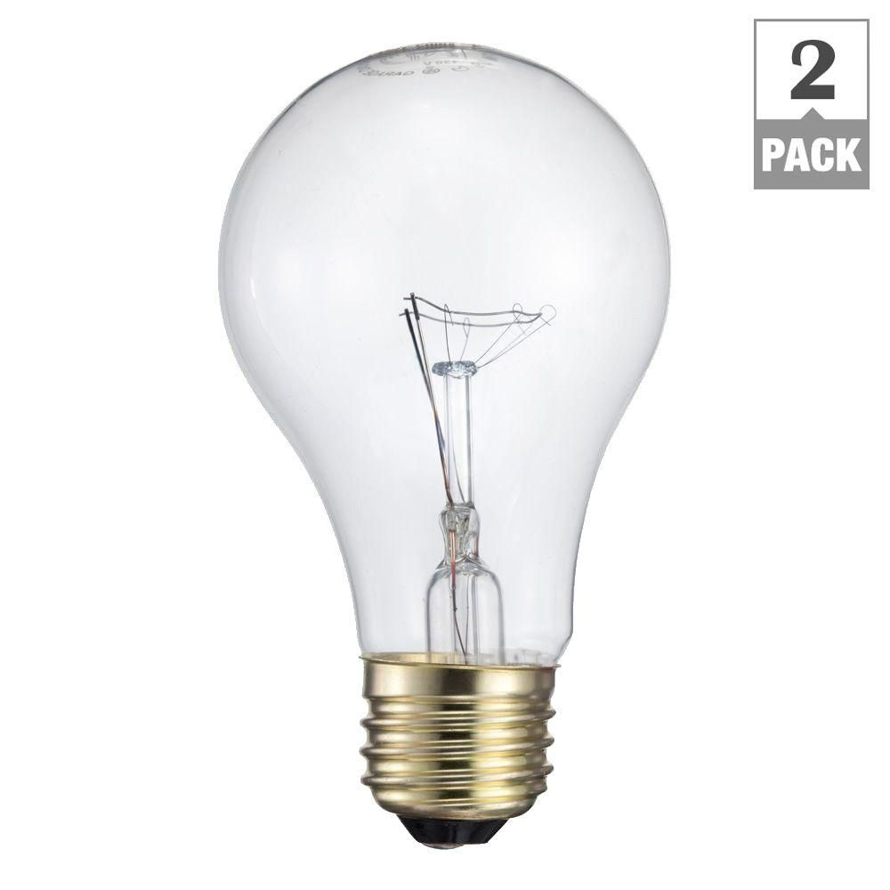 Philips 60 Watt Incandescent A19 Garage Door Light Bulb 2 Pack