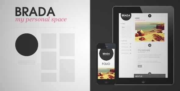 Download and review of Brada Innovative Wordpress Template, one of ...