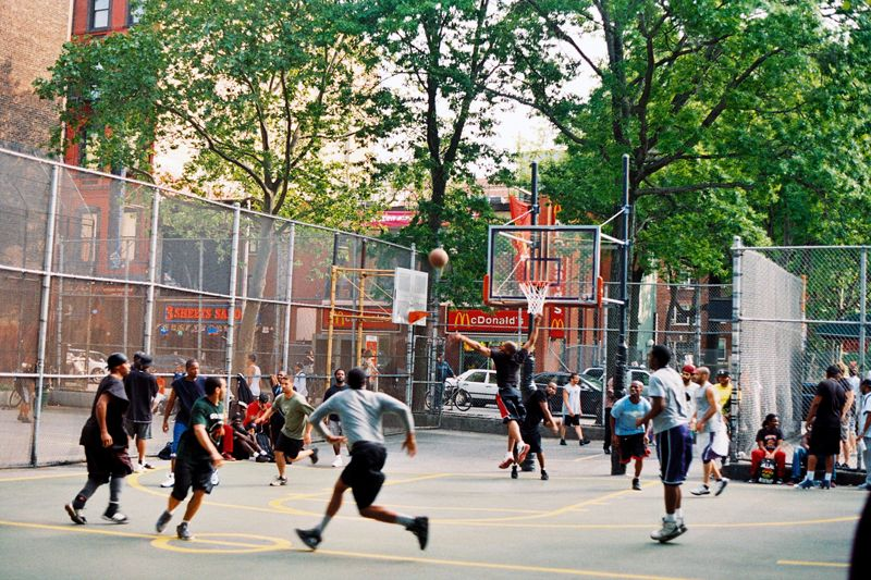 West 4th Street Courts In Greenwich Village Nyc Street Basketball Basketball Park New York Basketball
