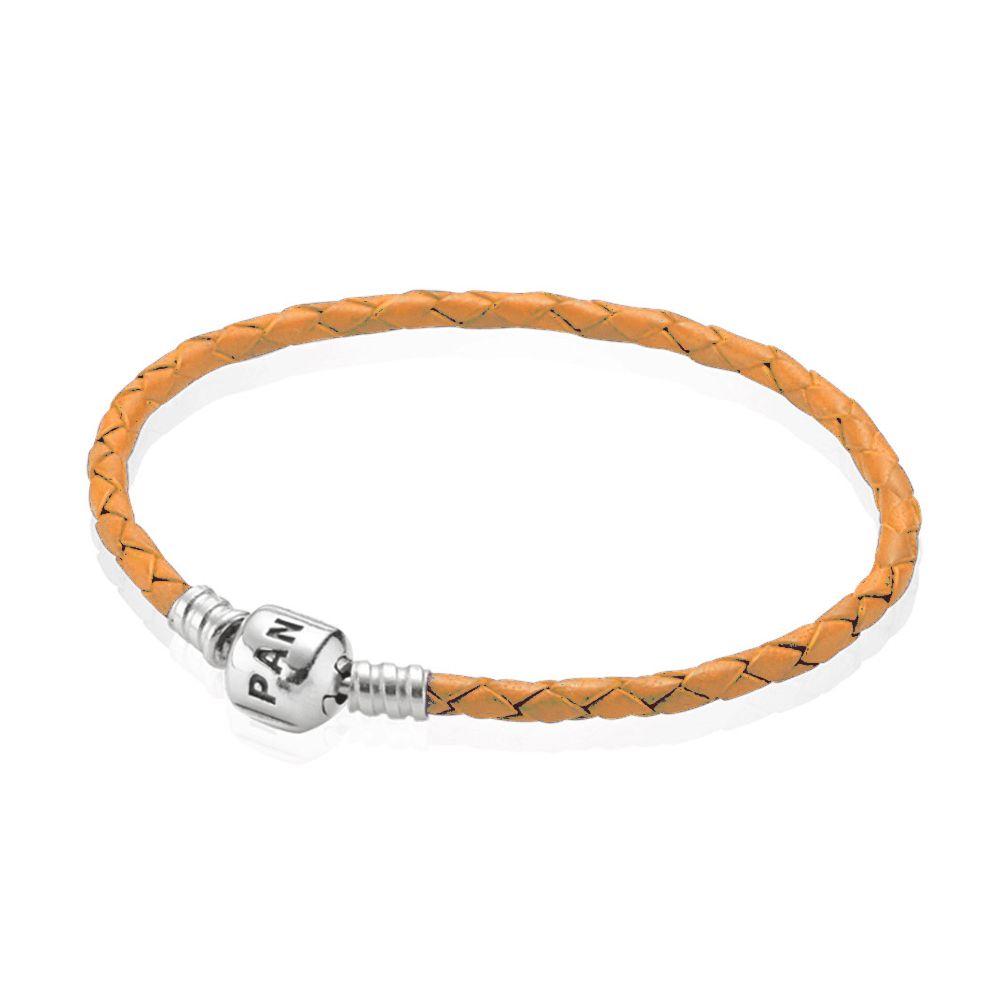 Bracelet Pandora Cuir Simple - Gris | Pandora leather bracelet ...