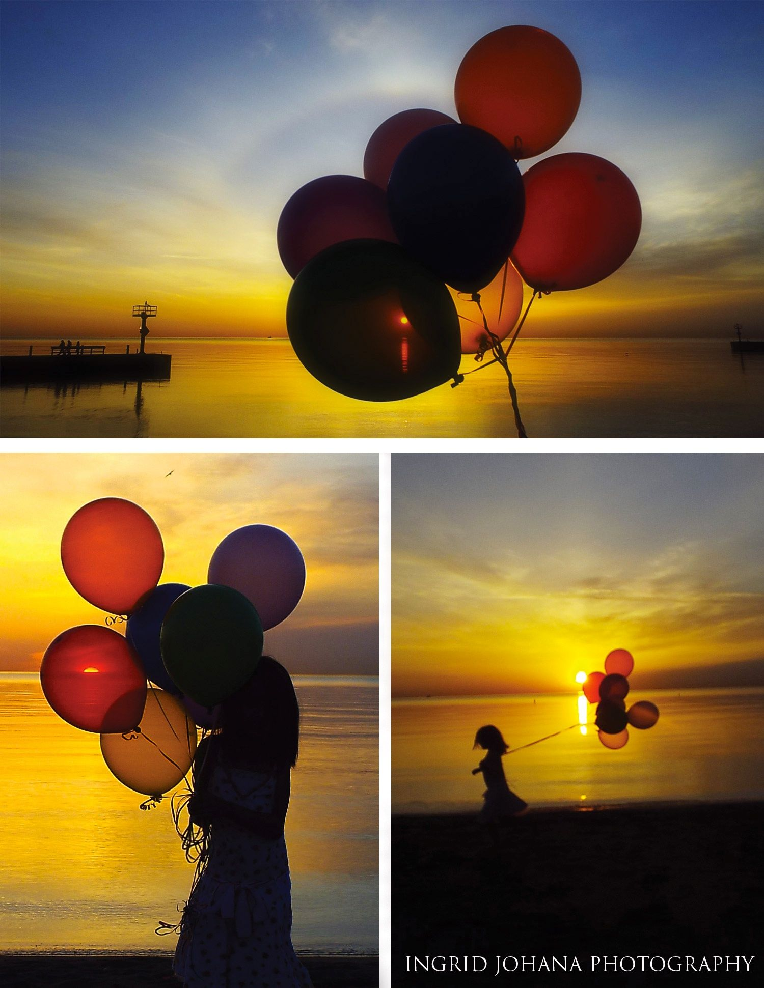 7th Birthday Photo Shoot For My Daughter This Morning 7 Balloons And Sunrise In Chicago