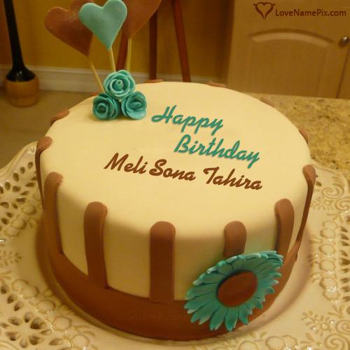 Belated Birthday Cake With Name Generator
