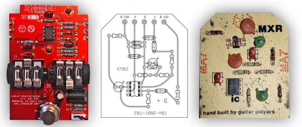 Electrosmash Mxr Distortion Circuit Analysis Mxr Distortion Diy Guitar Pedal Distortion Guitar