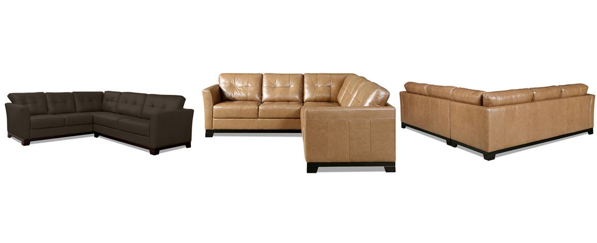Martino Leather 2-Piece Sectional Sofa (Sofa and Apartment ...