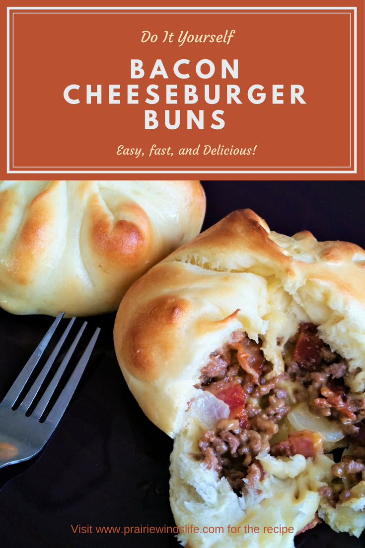 Soft And Chewy Warm Buns Stuffed With Ground Beef Cheese And Bacon An Easy Meal That Anyone Would Love Buns Recipe Homemade Beef Dinner Homemade Hamburgers