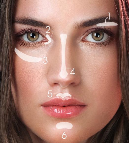 Usar Maquillaje No Mata Tus Neuronas.: 6 puntos dónde aplicar el iluminador para destacar...