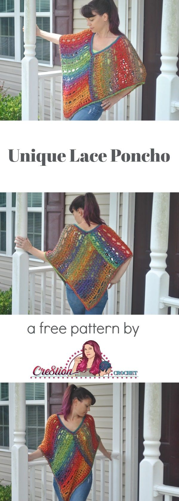 Unique Lace Poncho - Cre8tion Crochet | Cute Crochet Corner ...