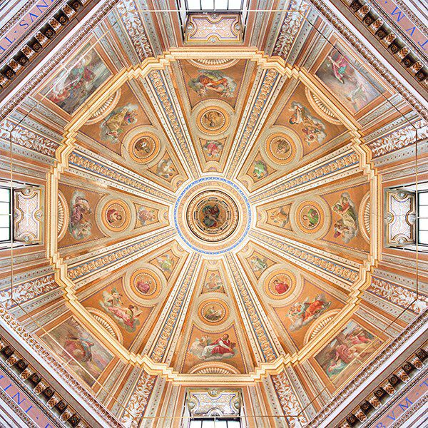 Interior of dome, Santa Maria di Loreto, Antonio da Sangallo, 1507-34; dome designed by Giacomo del Ducca completed 1576.