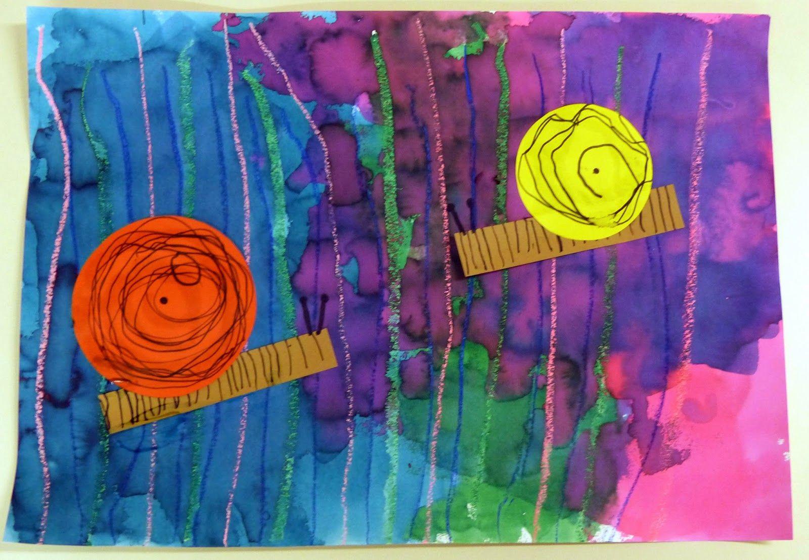 Escargots en graphisme et peinture en ps ma petite maternelle pinterest escargot pluie et - Escargot maternelle ...