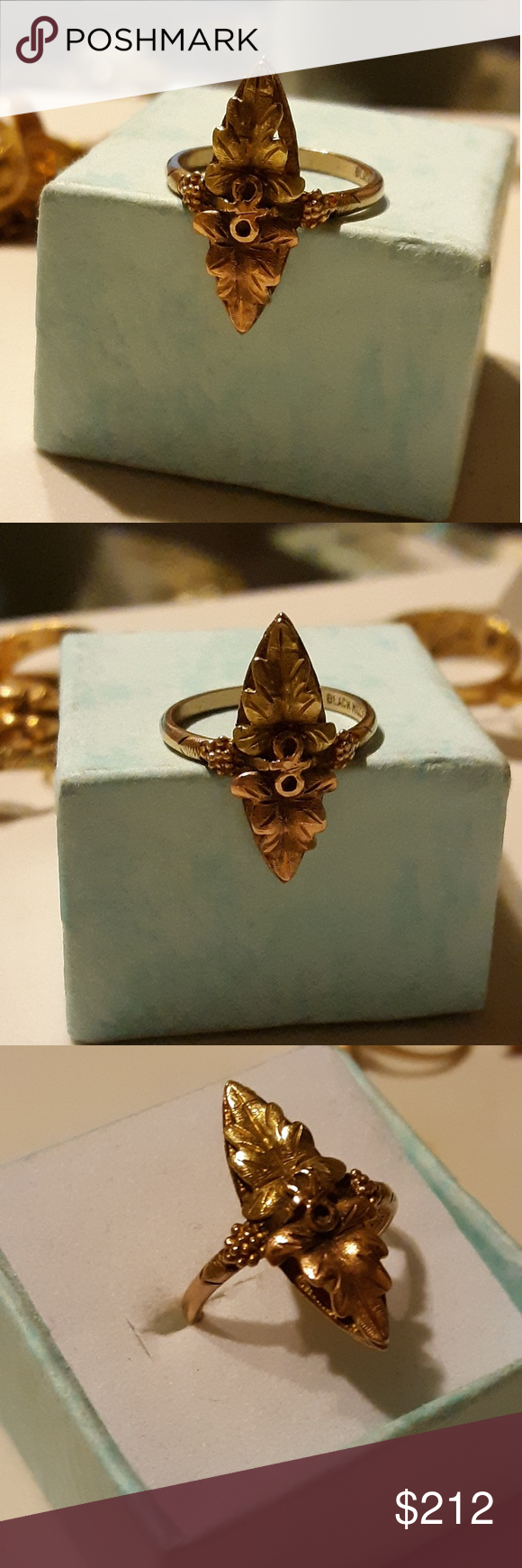 Ladies Black Hills Multi Tone 10k Gold Ring Size 6 Black Hills Gold Jewelry 10k Gold Ring Ring Size