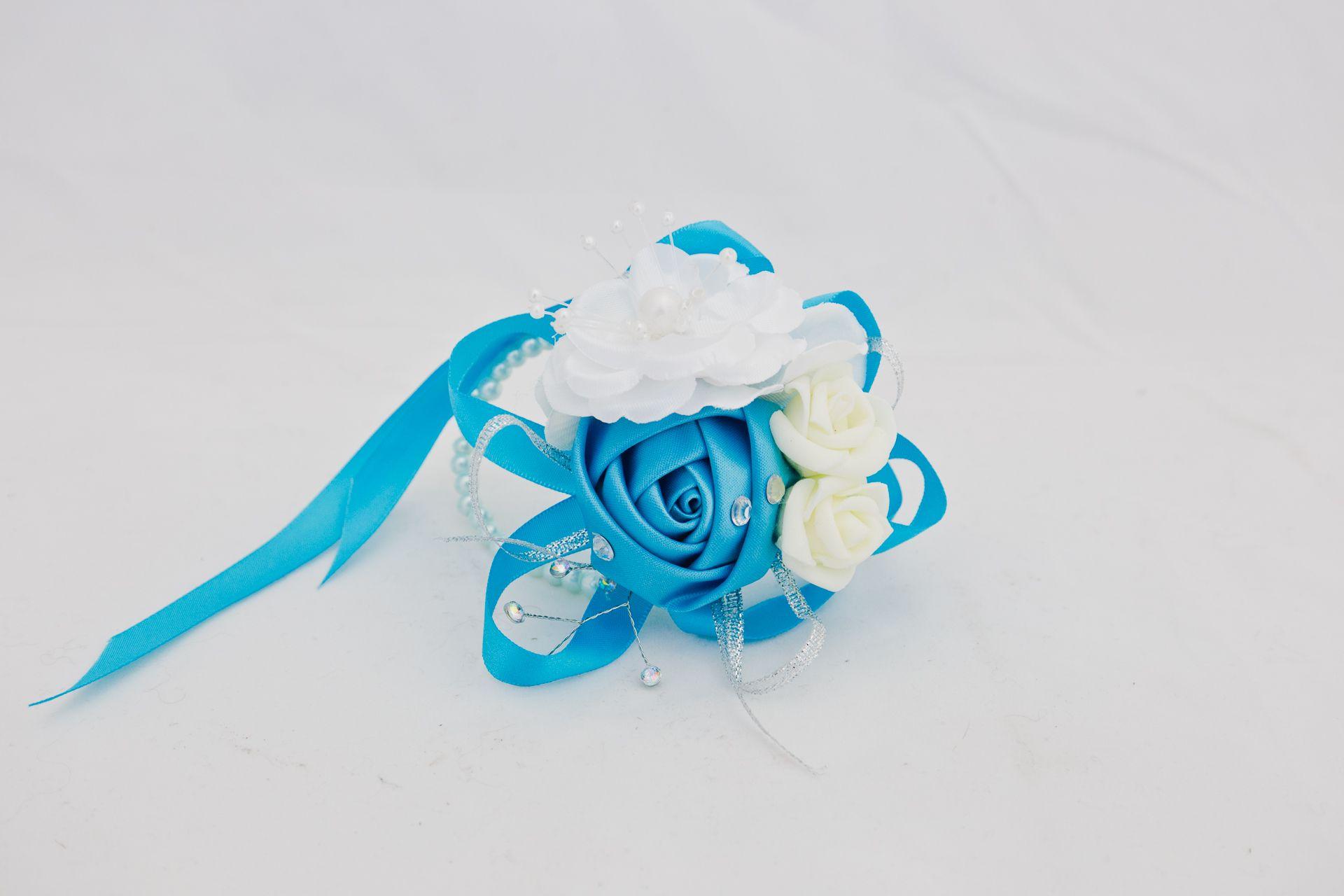 Silk Corsage – Aqua – Fremont Flower Pavilion
