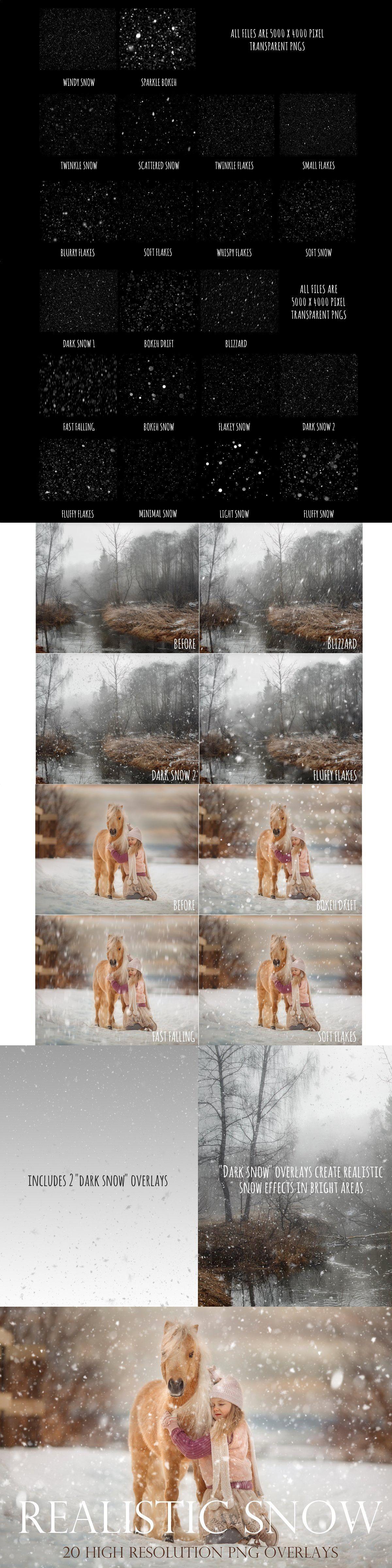 Realistic Snow Overlays Snow Overlay Overlays Photoshop Instruction