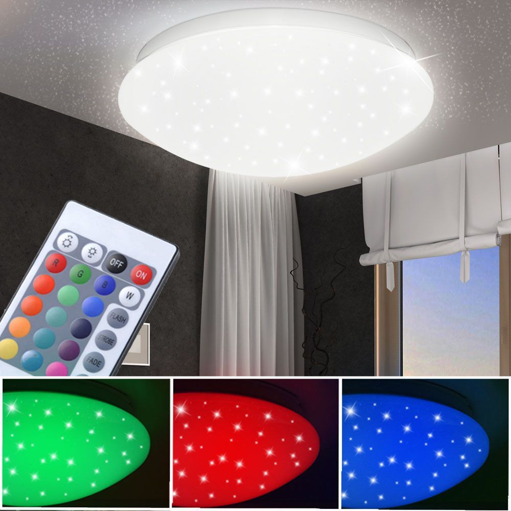 Rgb Led Decken Lampe Fernbedienung Kinder Zimmer Sternen Himmel Leuchte Dimmbar Mobel Wohnen Beleuchtung Deckenlampen Kronl Bedroom Lamps Diy Lamp Lamp