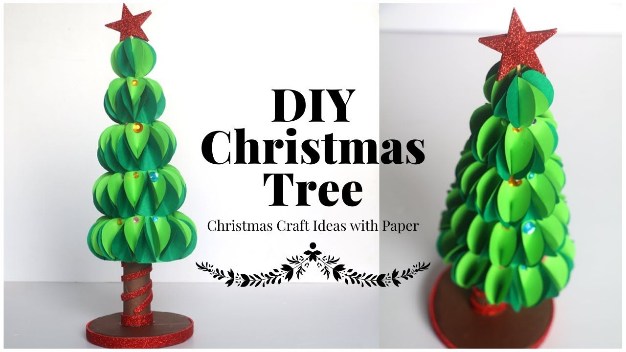 How To Make Christmas Tree with Paper Circle ? Table Top ...