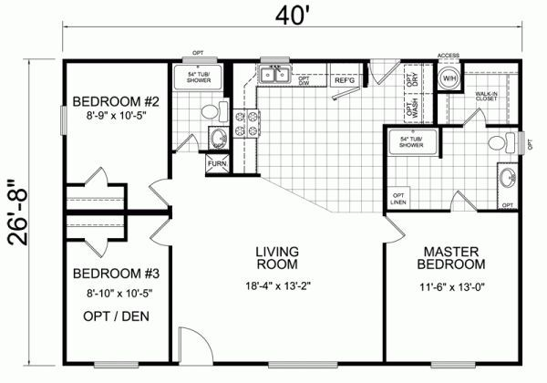 Twin Trailer Floor Plans 40 X 20   Google Search