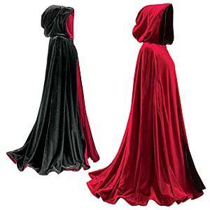 Death Cloak Costume Color Scheme Red Burgundy Exterior