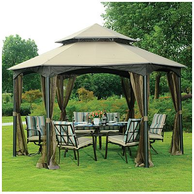 Wilson Amp Fisher 174 Southbay Hexagon Gazebo With Netting At