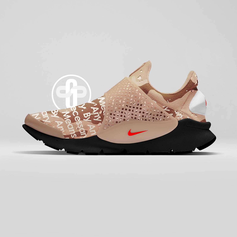 Supreme x Nike Sock Dart Desert Camo