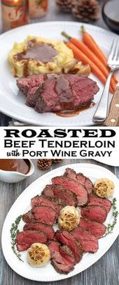 Photo of Roasted Beef Tenderloin with Port Wine Gravy-Roasted Beef Te…