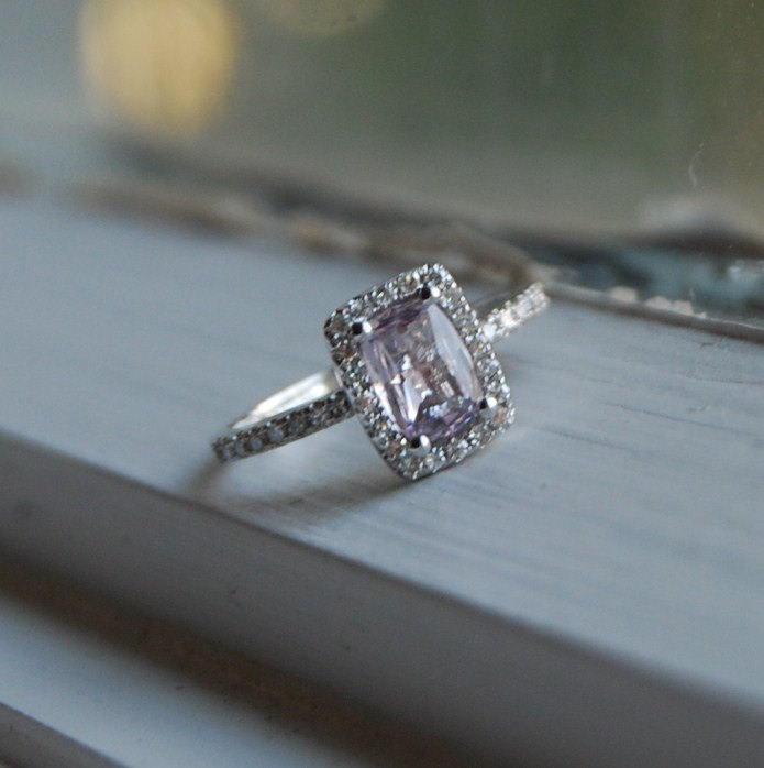 ring sapphire solitary lavender nichol engagement wendy square rings grande products