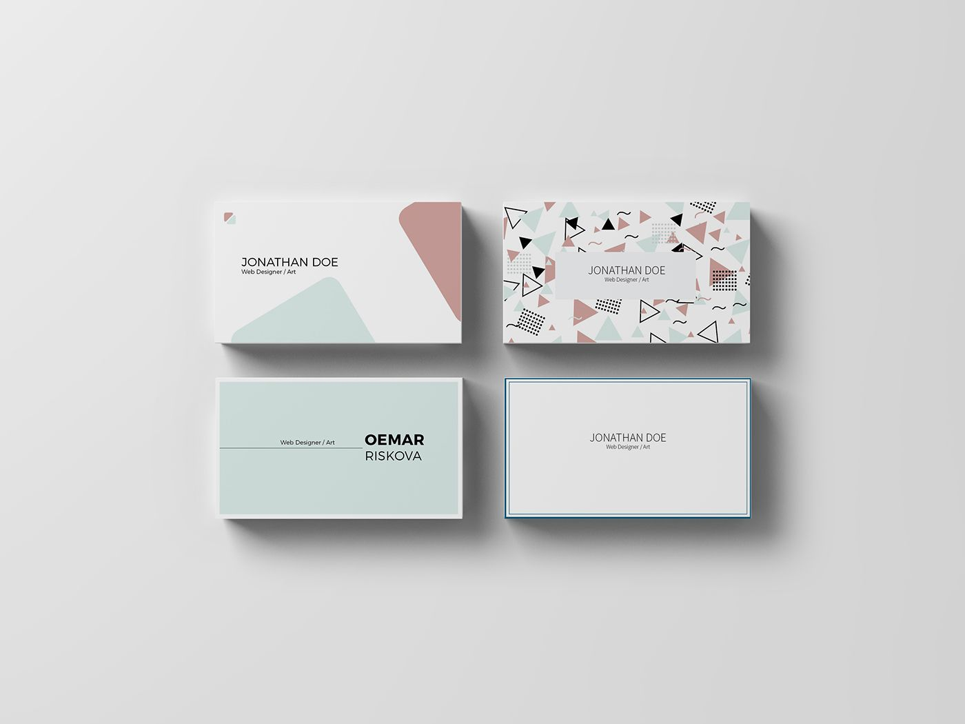 Square Minimal Business Card By Galaxiya On Creativemarket