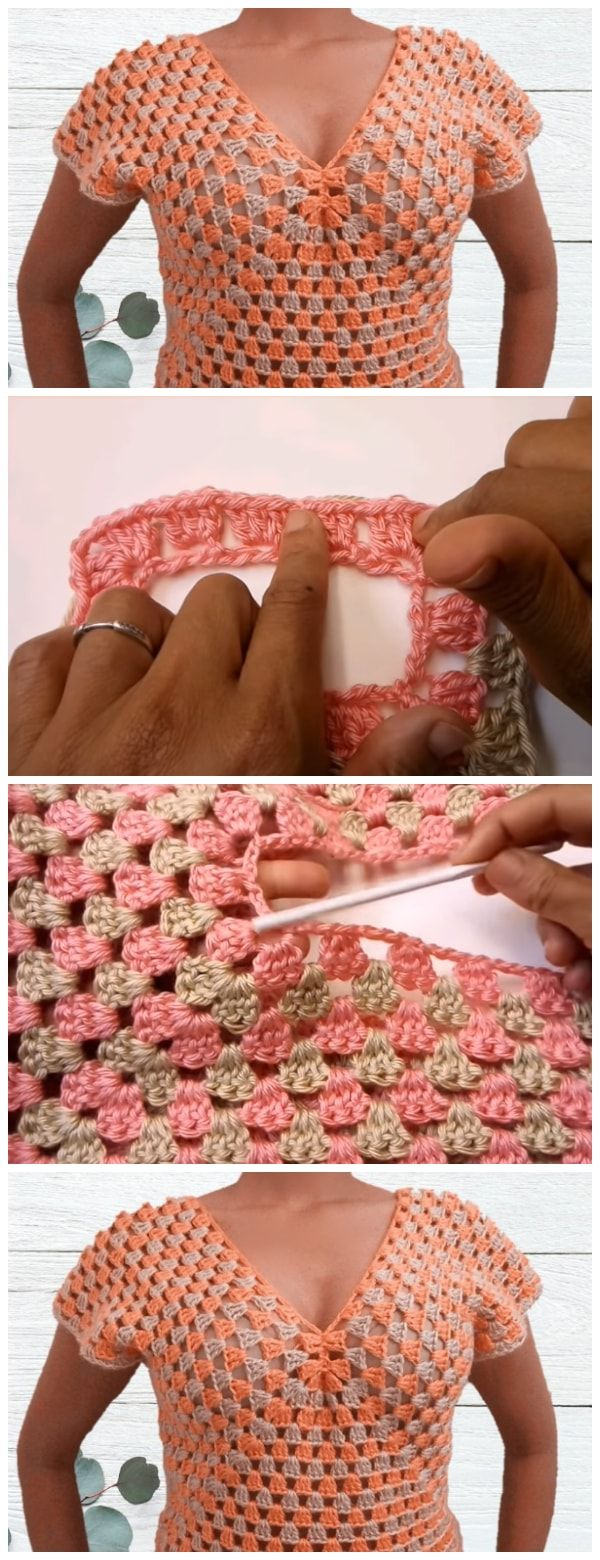 In This Tutorial Will Teach You How To Make A Crochet Sweater Top Trippy Hippy Afghan Pattern Kingdom If Can Granny Square Then Do Even Cant