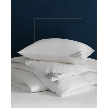 Sferra Buxton Medium Down Pillow Five Levels Of Amazing Softness And Warmth All Designed To Cocoon You Into The Sw Goose Down Pillows Pillows Cheap Bed Linen