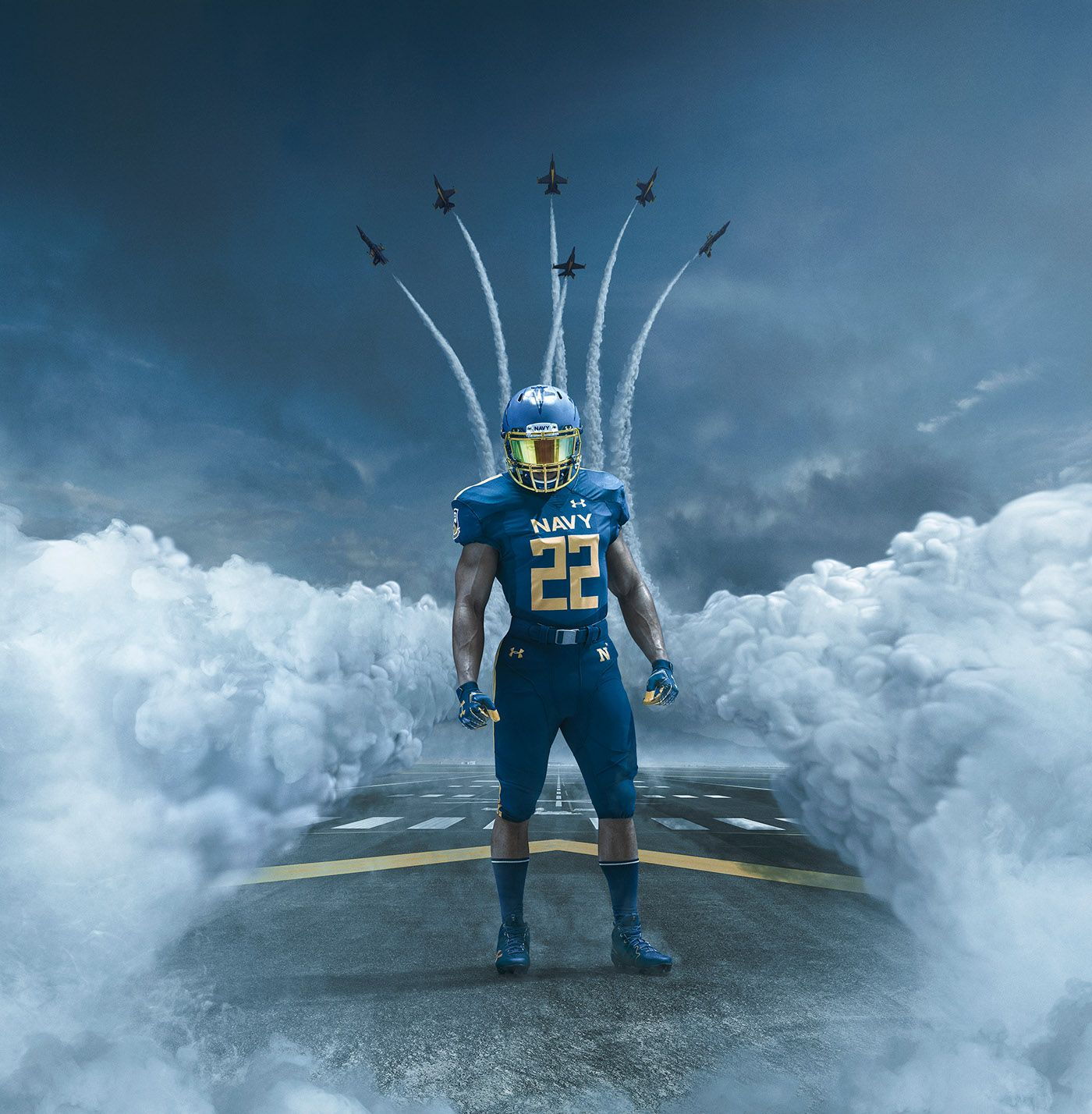 Construction Of An Epic Football Picture Navy Football Army Vs