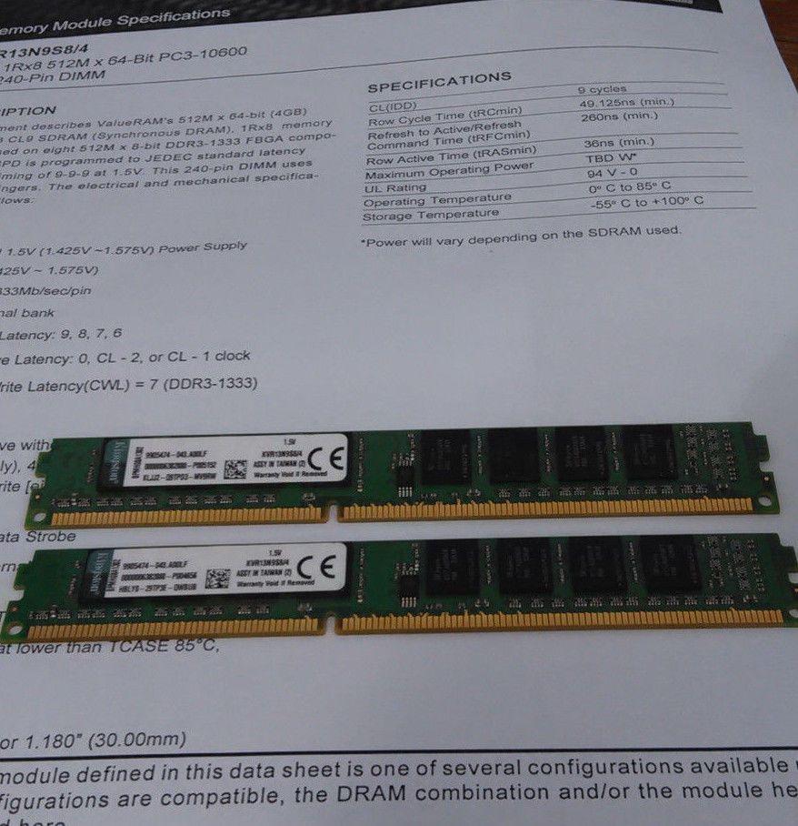 8 Gb 4gb 2rx8 512m X 64 Bit 2 Pcs Ddr3 Ram Pinterest Computer On Module