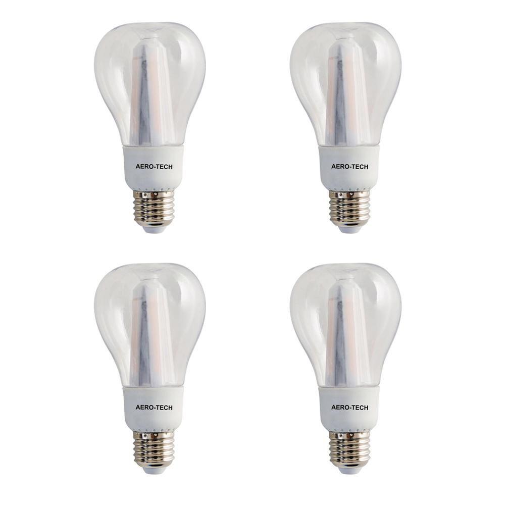 Aero Tech 75 Watt Equivalent A21 3000k 30 000 Hours Clear Led Light Bulb 4 Pack Acl 10w The Home Depot Led Light Bulb Light Bulb Outdoor Light Bulbs