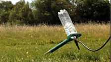 "Science ""experiments"" to try.  This one is a water bottle rocket"