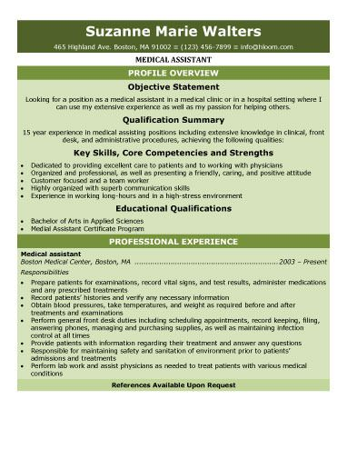 Download Free Medical Assistant Resume templates. Browse for Medical ...