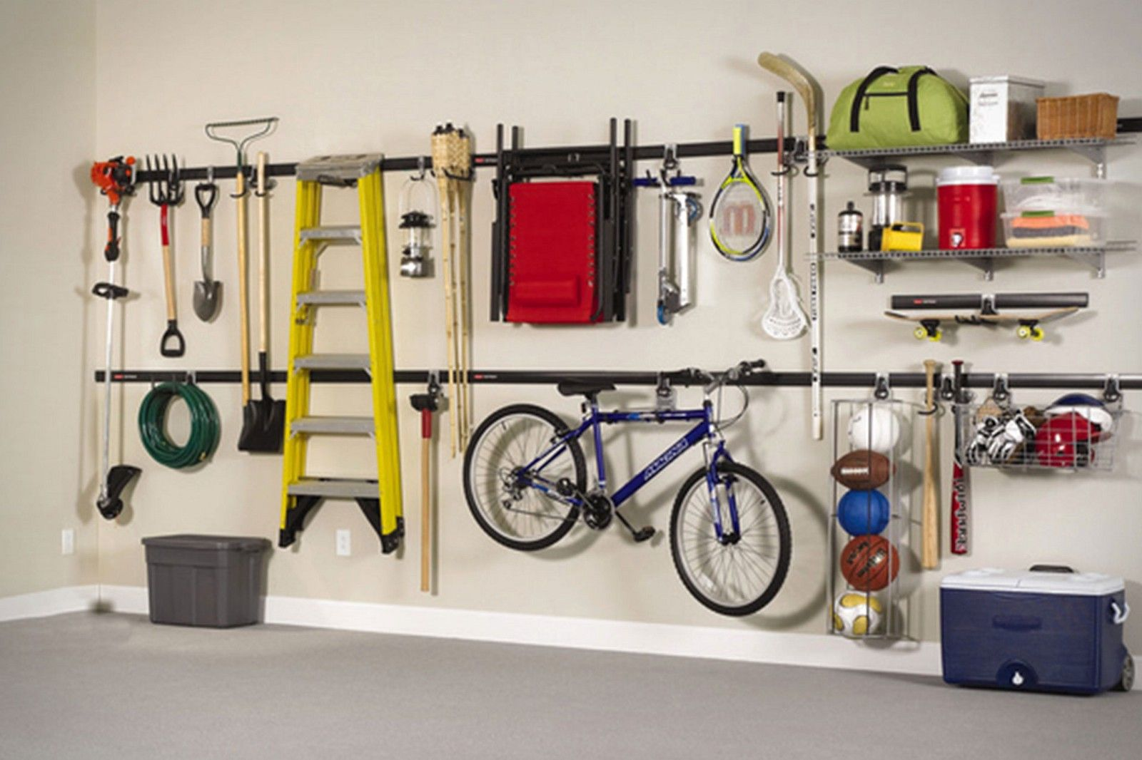 27 Garage Storage Ideas That Can Be Used As Storage Of Your Pet Astuce Rangement Stockage De Mur Rangement