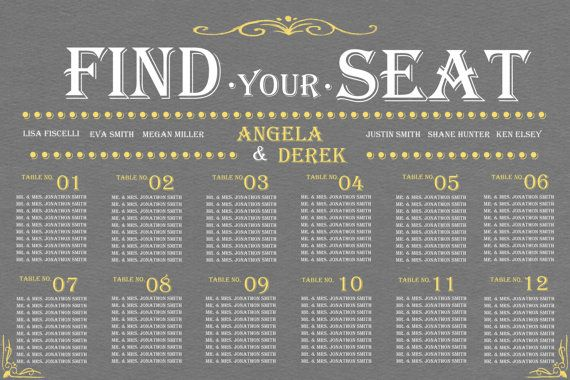 THANK YOU for visiting PLEASE BE SEATED DESIGN We look forward to - wedding charts