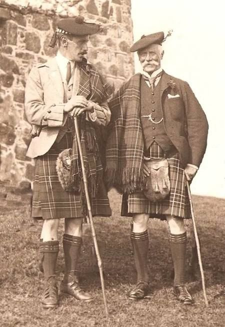 Vintage Scottish Highland Wear Photograph Album for great kilt and sporran photo reference from Scotland