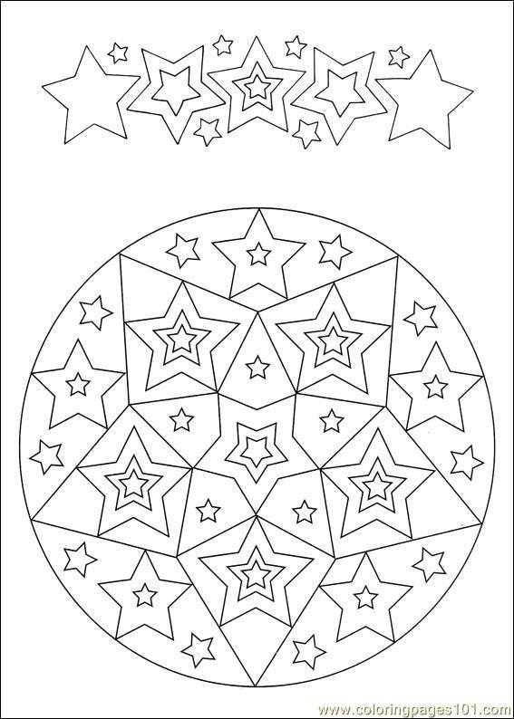Kleurplaten Mandala Sterren.Sterren Mandela Mandala Mandala Coloring Pages Mandala
