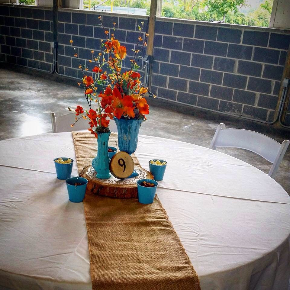 Teal Wedding Ideas For Reception: Reception. Rustic Barn Wedding. Teal And Orange. (With