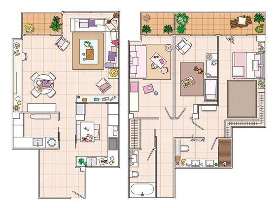 Resultado de imagen de planos de chalets modernos y grandes de dos - faire sa maison en 3d