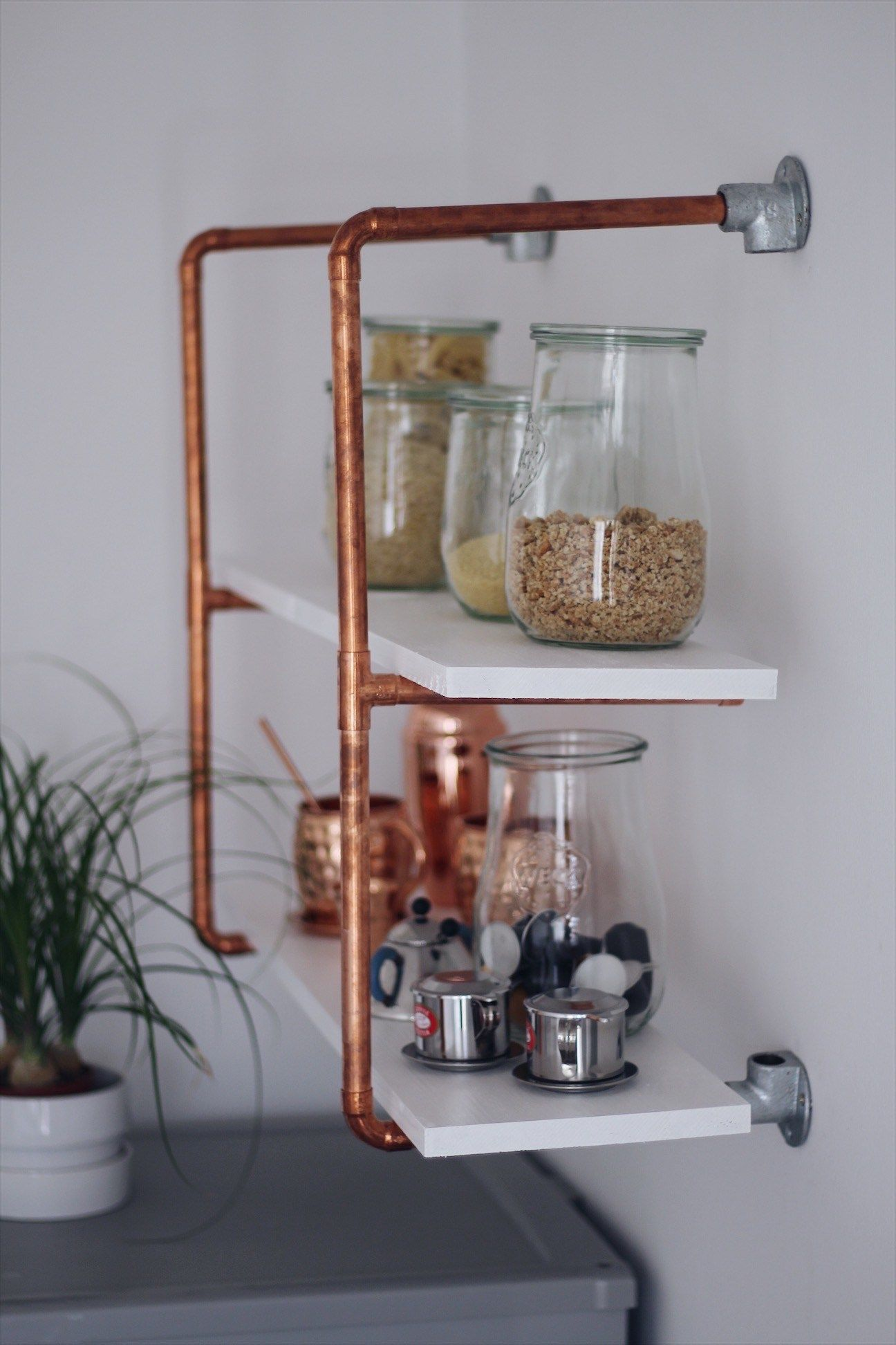 Selfmade Wohnideen Diy For Your Selfmade Copper Shelf Diy Anleitung Für