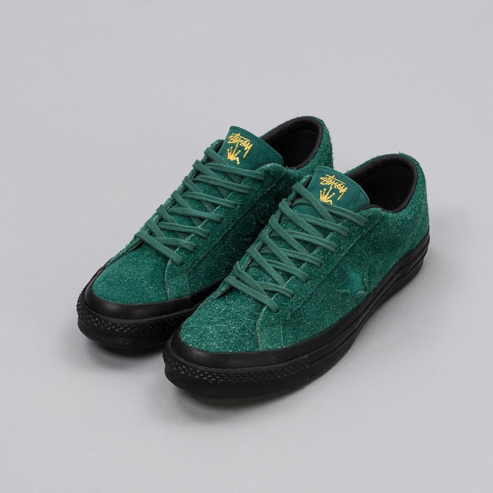 cddec30ff709 CONVERSE x Stussy One Star 74 Ox in Hunter Green