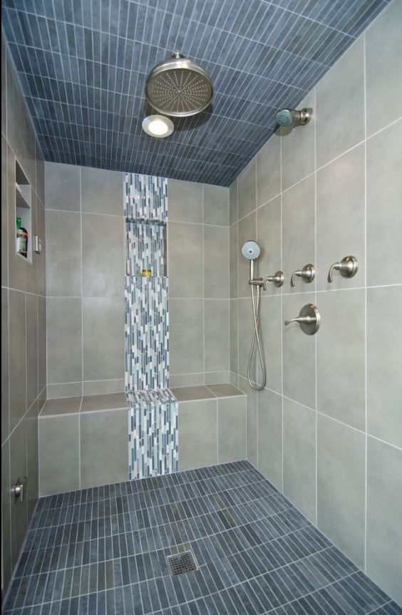 porcelain mosaic tile for shower floor - Google Search, love the ...