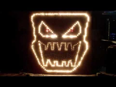 How to build Light O Rama singing faces with pegboard. - YouTube ...