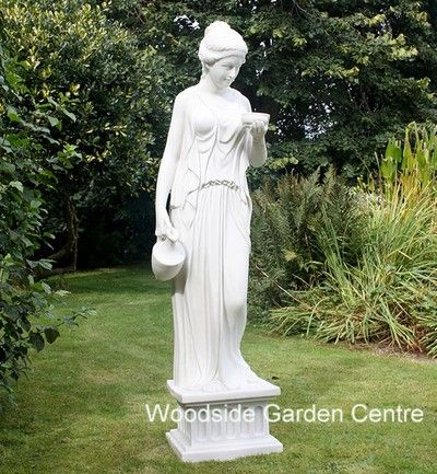 Large Marble Resin Hebe Female Statue Garden Ornament Woodside