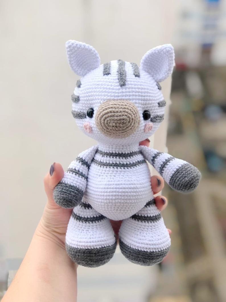 Amigurumi Pattern ZEBRA in ENGLISH Crochet Pattern Toy ...