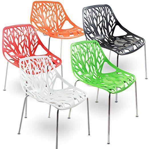 mojo stuhl küchenstuhl plastikstuhl retro designer stühle ... - Stühle Für Küche