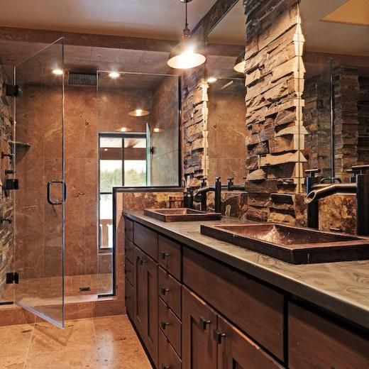 Slate Bathroom Modern Bathrooms And Rustic: Kitchen & Bath Interior Design Project Gallery