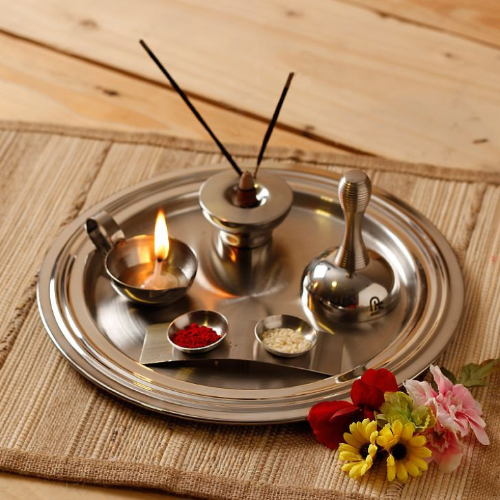 Image gallery puja tray for Aarti dish decoration