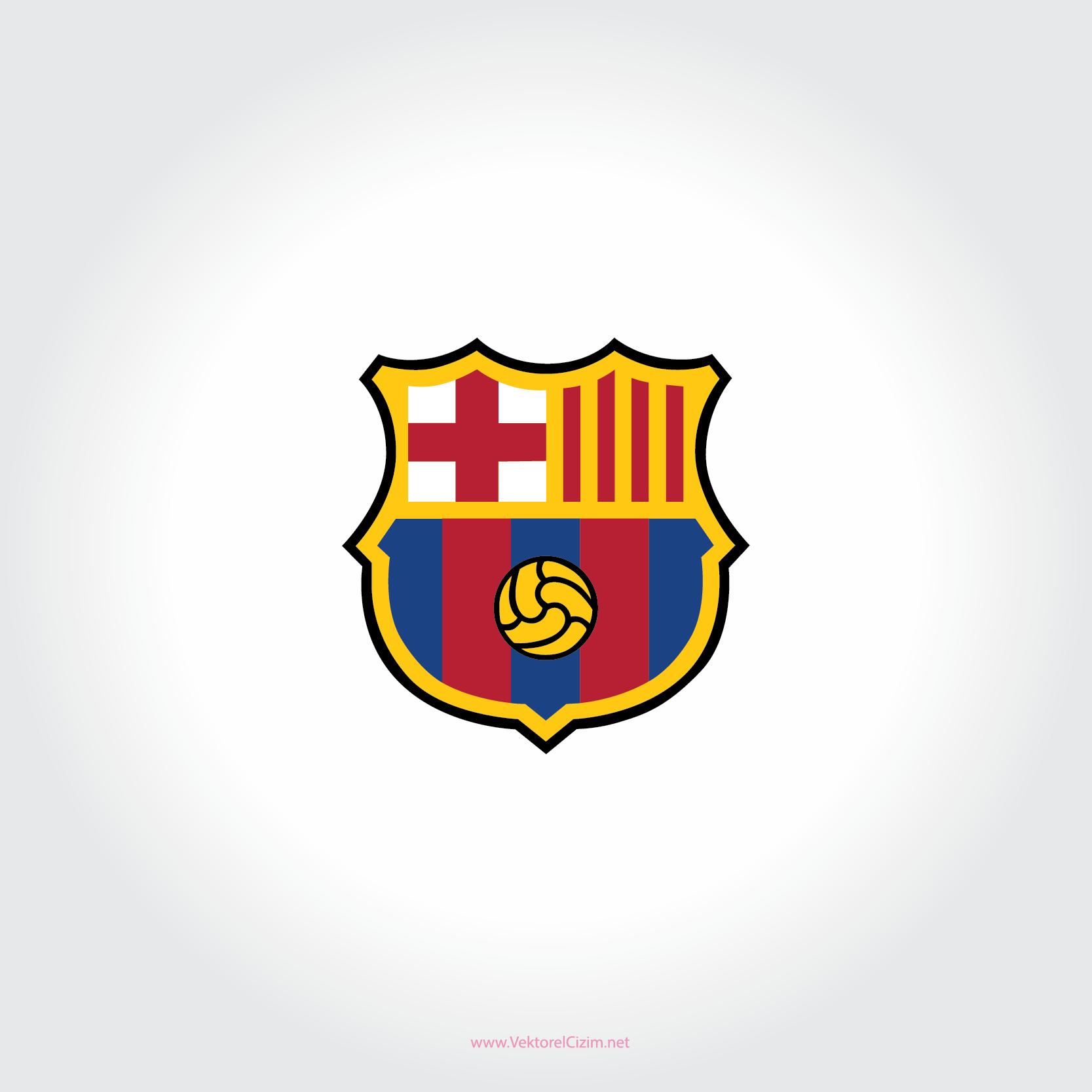 Vektörel Çizim Barcelona New Logo Vector Download